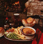 Penhelig Arms bar meal